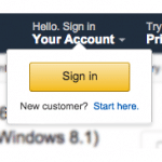 Amazon Login|Register Screenshot