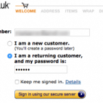 Conversion Rate Optimisation; Sales optimisation; Content; Ecommerce; Amazon Checkout Sign-In Screen Shot